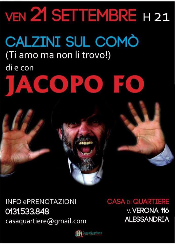 Jacopo Fo ad Alessandria il 21 settembre